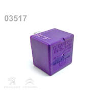 Relais automobile Cartier 03531 - 12V 25A - 5 broches violet