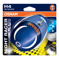 NIGHT RACER PLUS® MOTO BLISTER DUO H4 12V 60/55W P43t OSRAM 64193NRP-02B