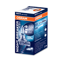 NIGHT BREAKER® PLUS BLISTER H11 12V 55W PGJ19-2 OSRAM 64211NBP-01B